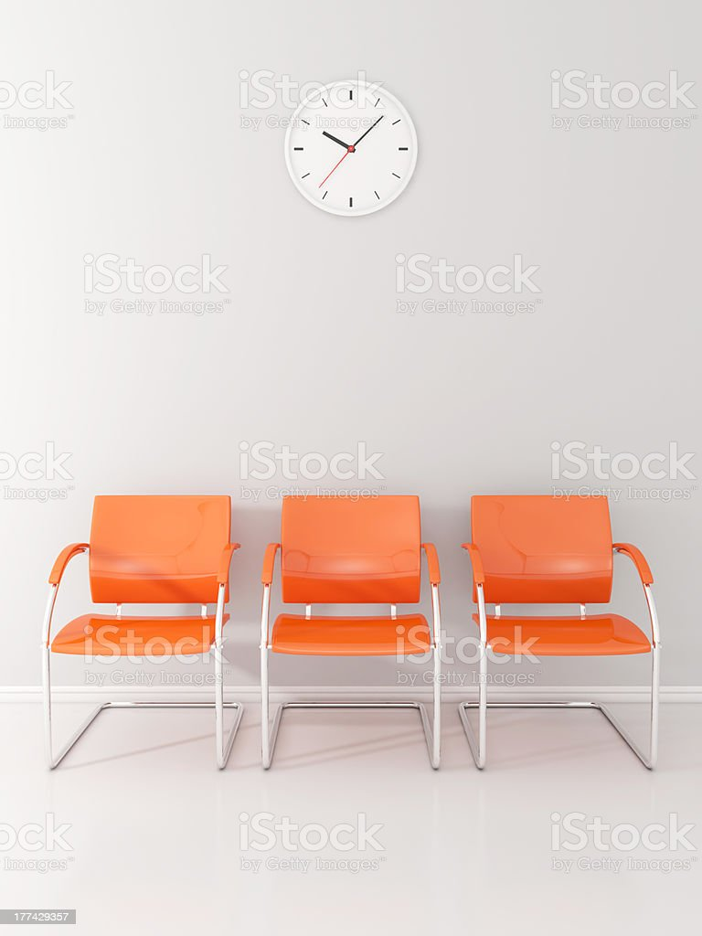Waiting room stock photo