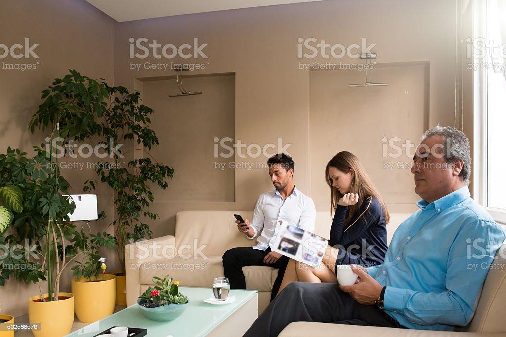 waiting room stock photo
