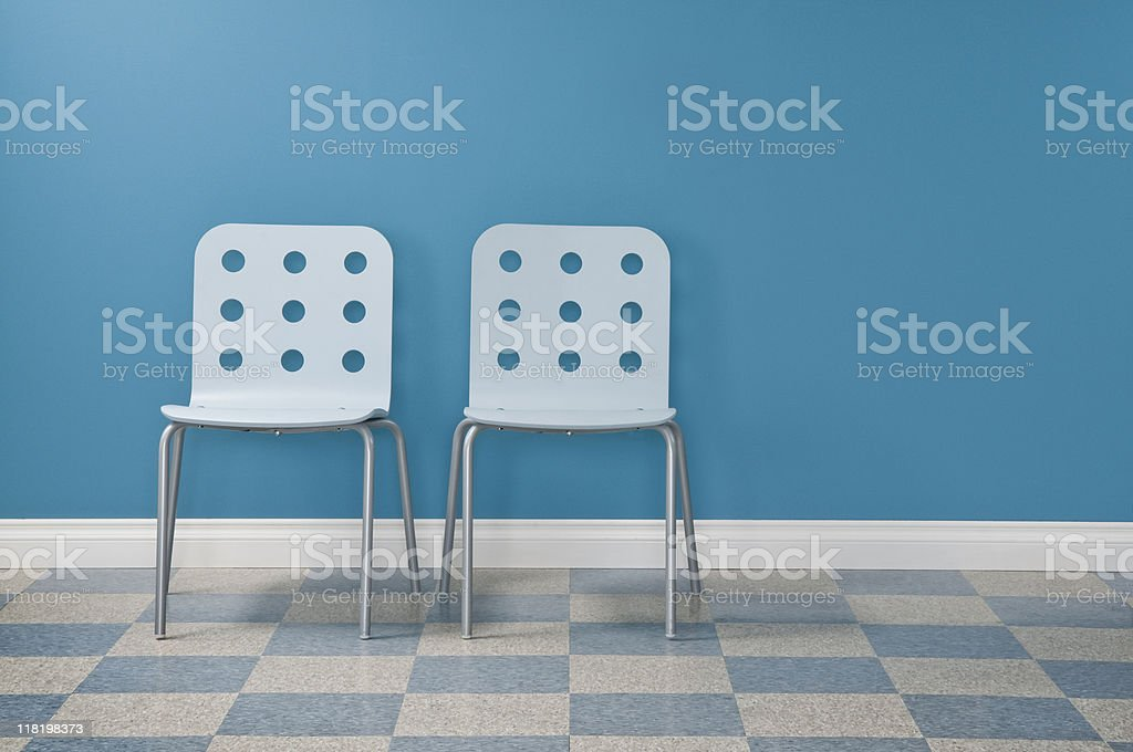 Waiting Room With Two Chairs royalty-free stock photo