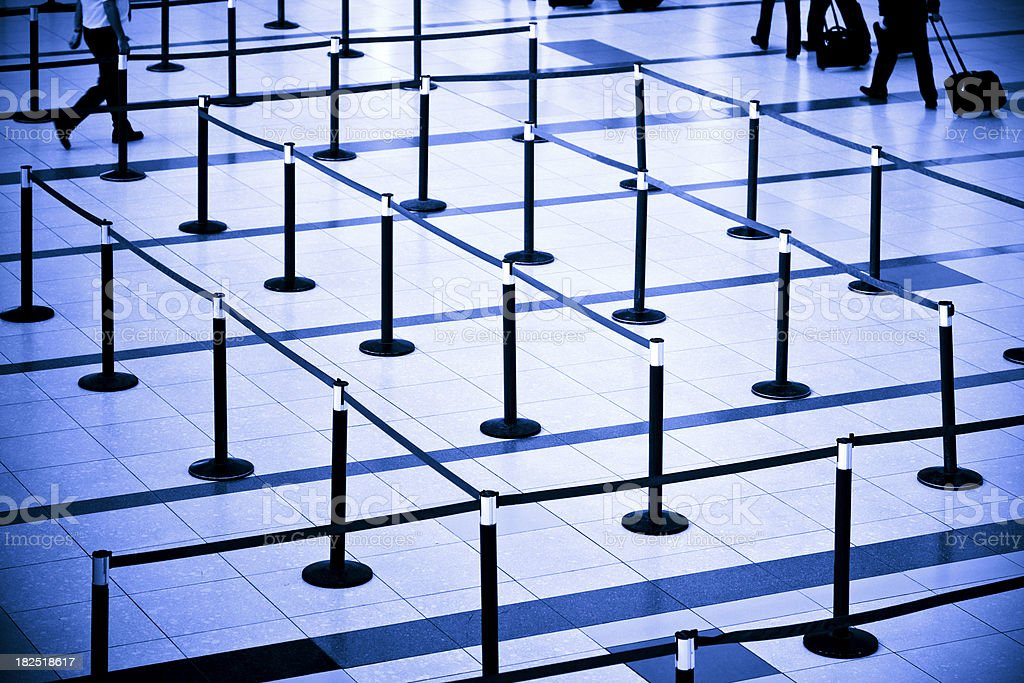 Waiting rows on airport royalty-free stock photo
