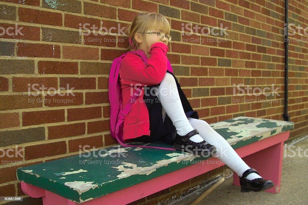 Waiting schoolgirl royalty-free stock photo