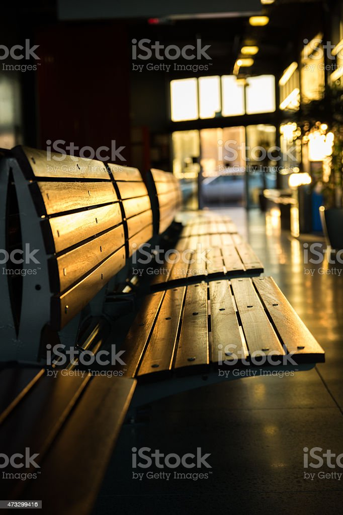 Waiting Seats stock photo