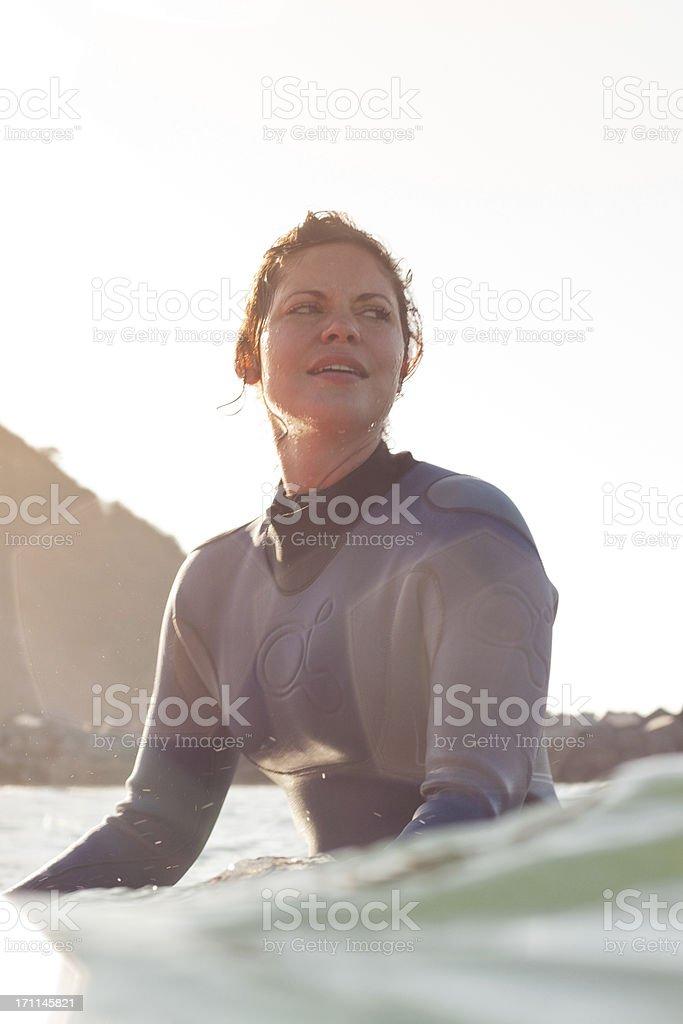 waiting surfer royalty-free stock photo