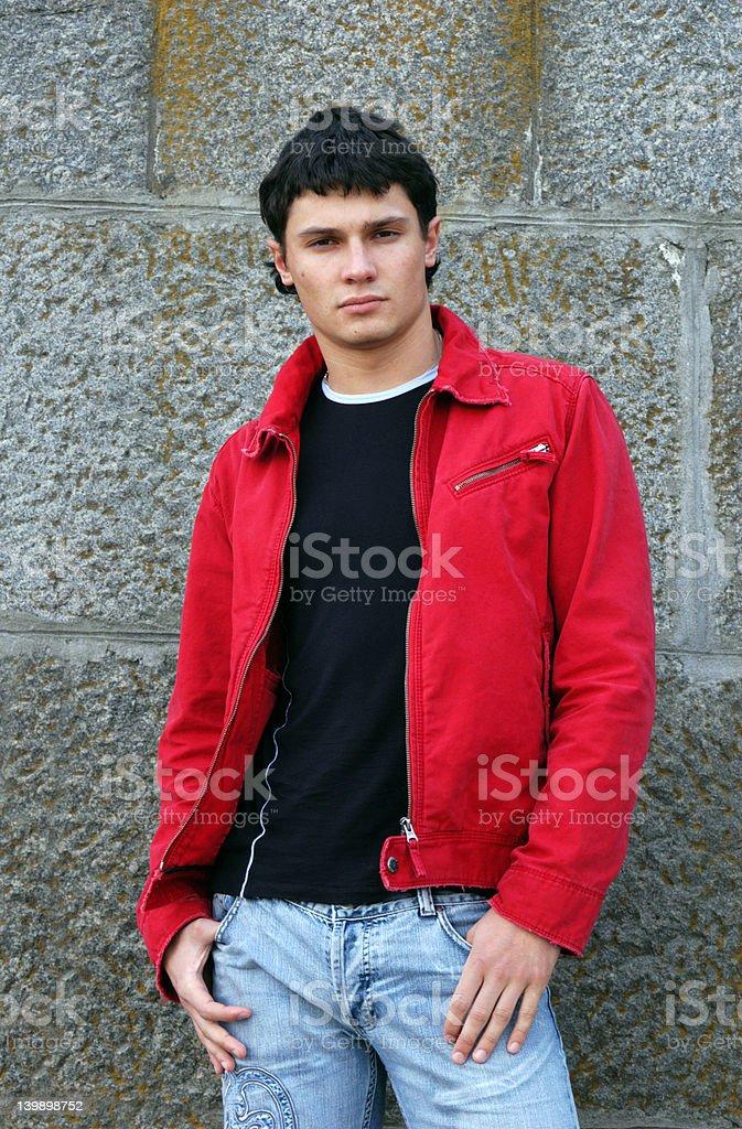 Waiting Teenager royalty-free stock photo