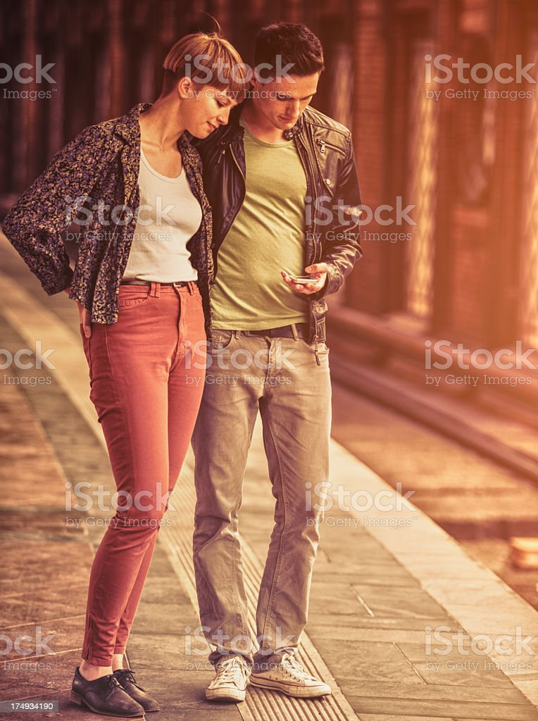 waiting the train in berlin royalty-free stock photo
