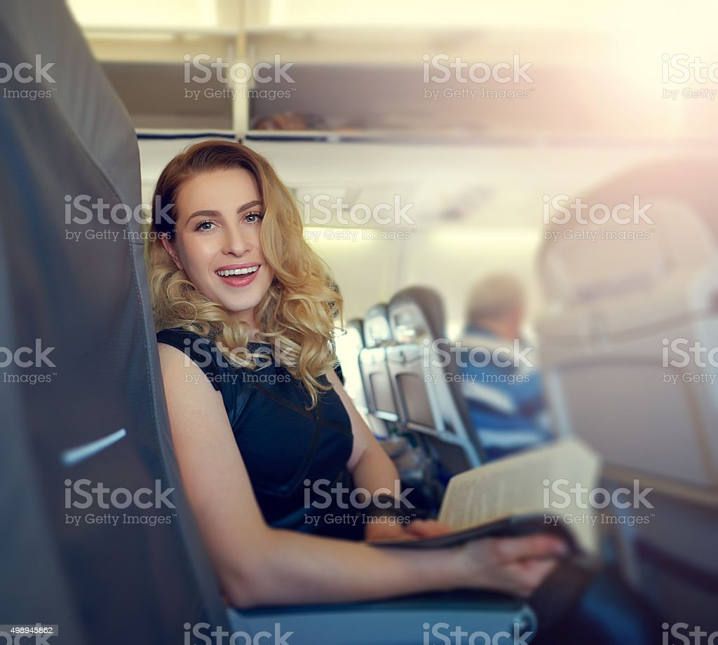 waiting to arrive at destination stock photo