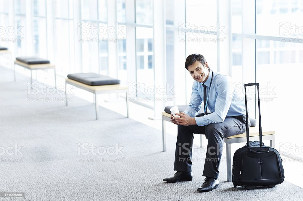 Waiting to board royalty-free stock photo