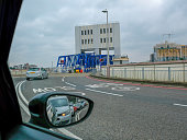 Waiting to board Woolwich ferry to cross the River Thames