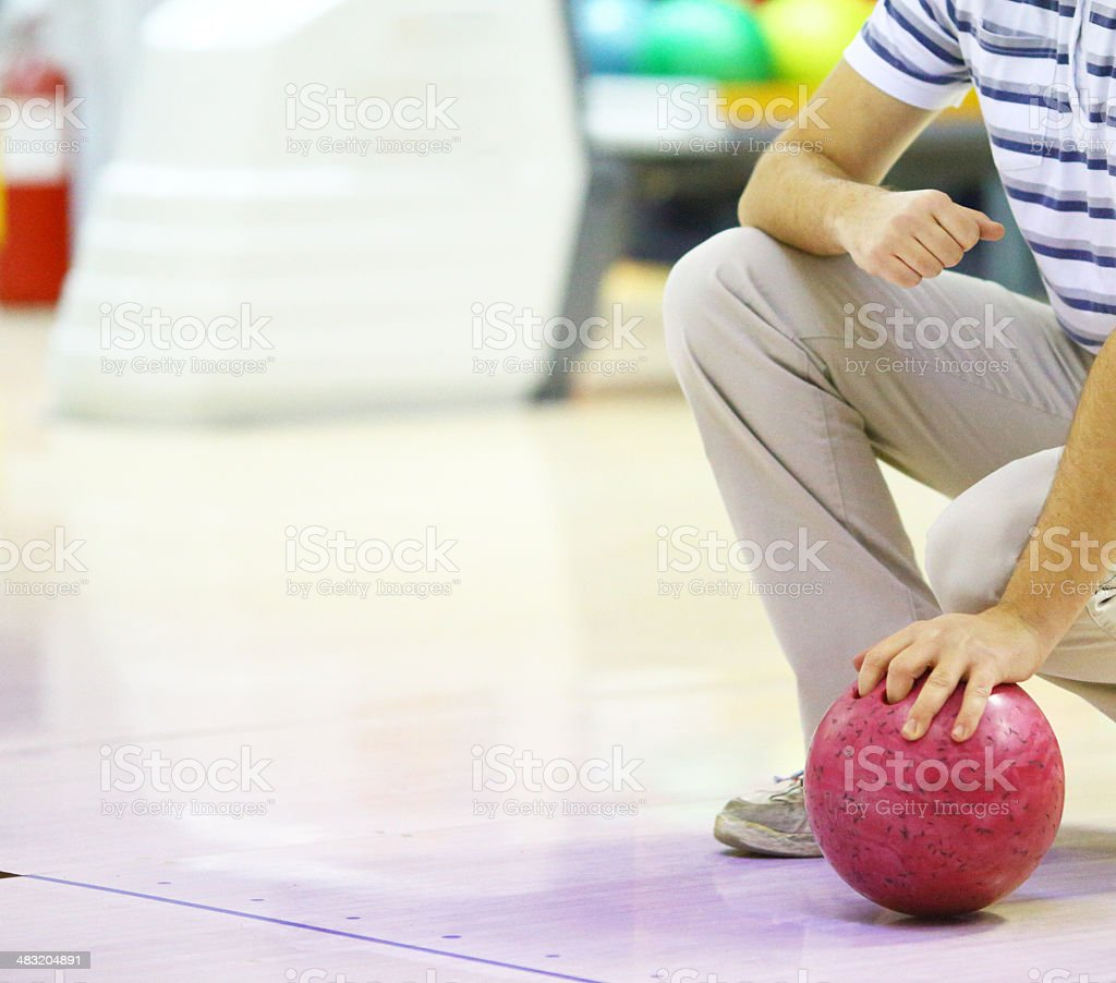 Waiting to Bowling royalty-free stock photo