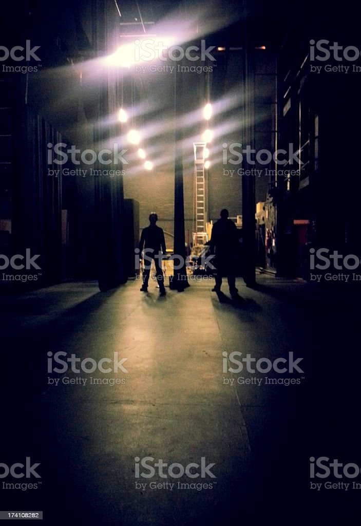 Waiting to go onstage stock photo