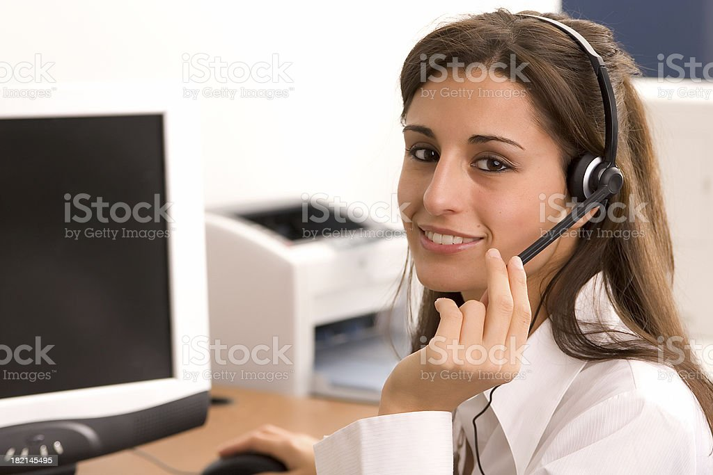 Waiting to take your order stock photo
