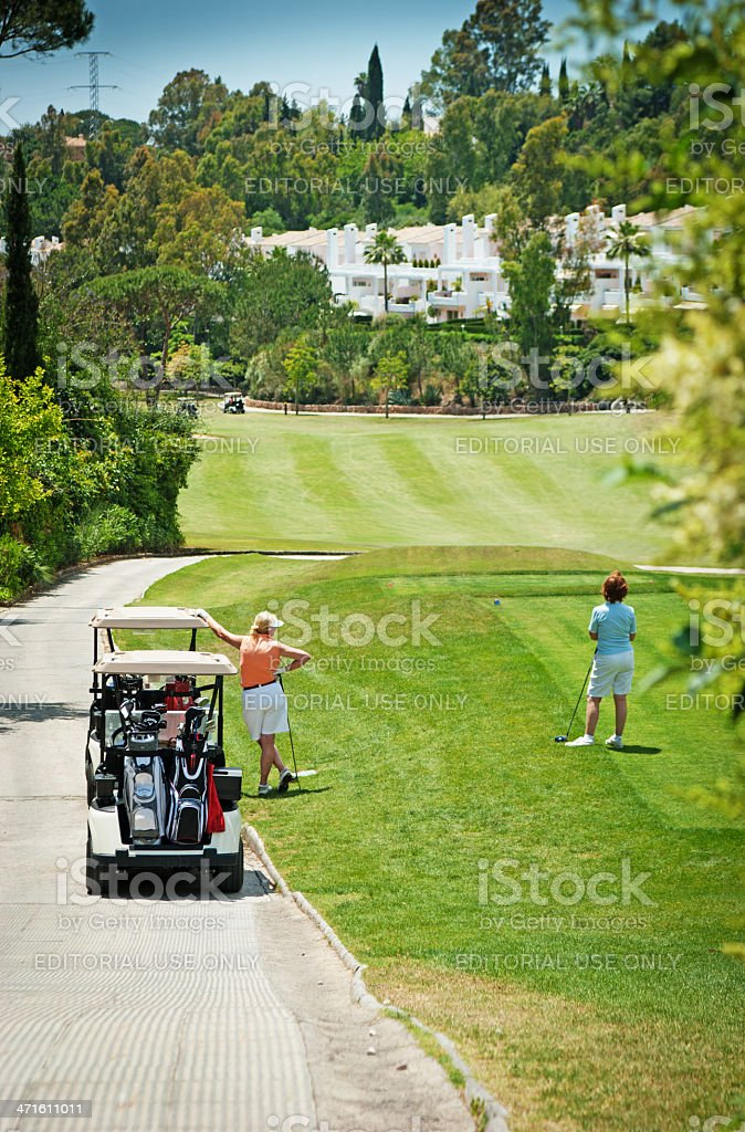 Waiting to tee off royalty-free stock photo