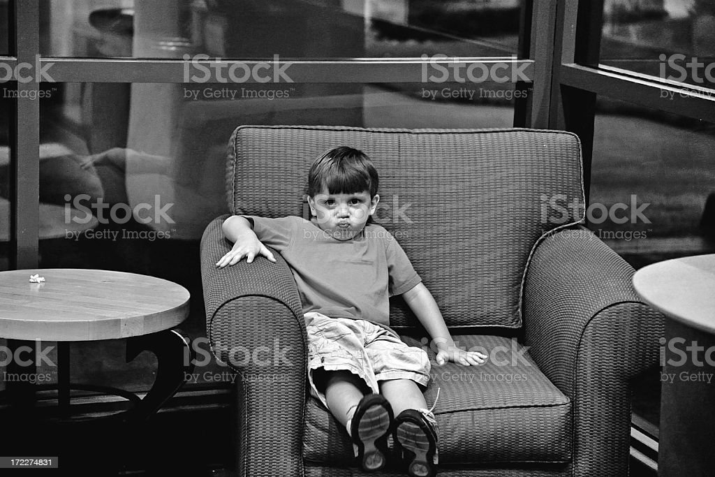 Waiting Unhappy royalty-free stock photo