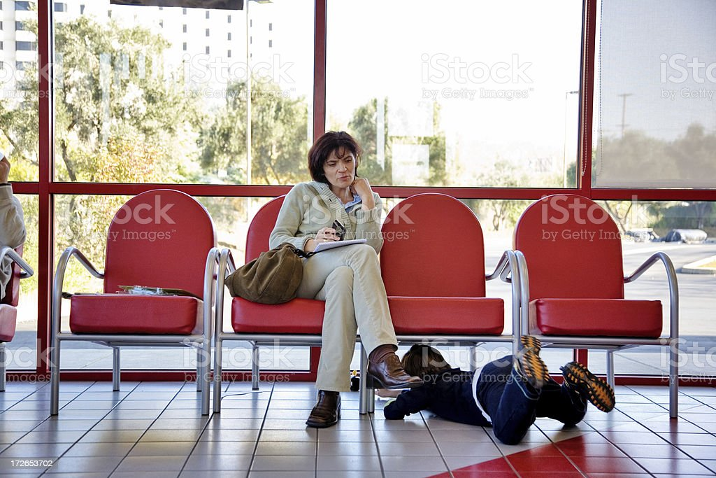 Waiting With Child royalty-free stock photo