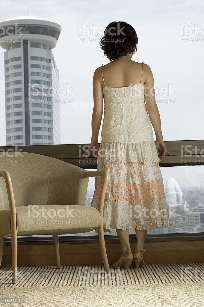 waiting woman royalty-free stock photo