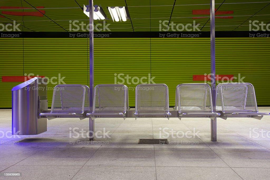 waiting zone stock photo