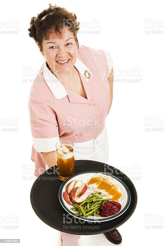 Waitress - Dinner For One royalty-free stock photo
