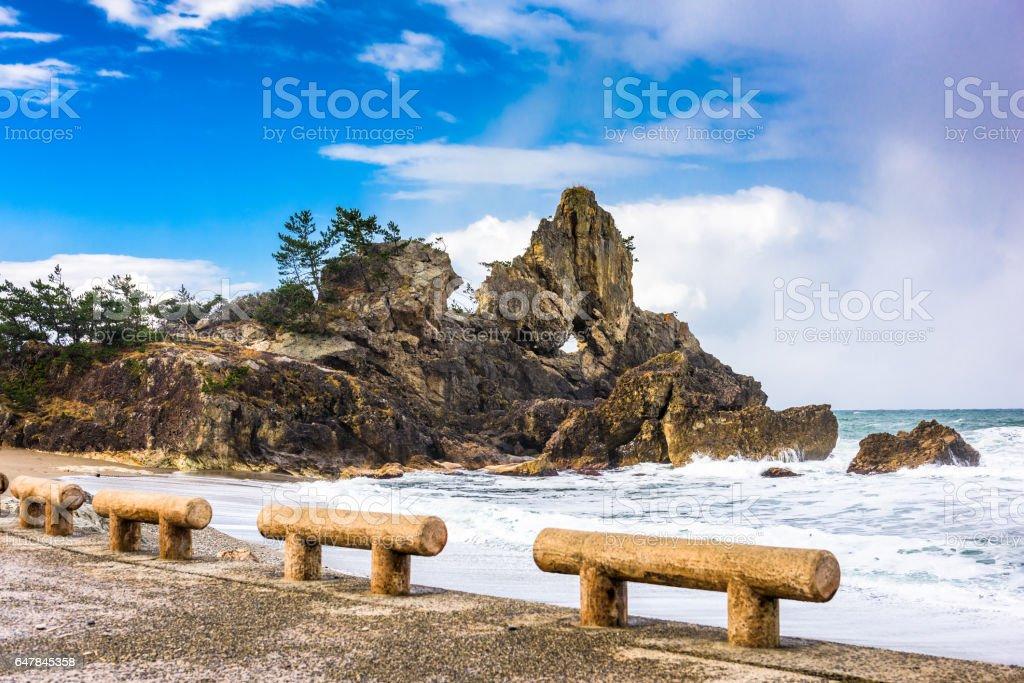 Wajima, Japan Coast stock photo