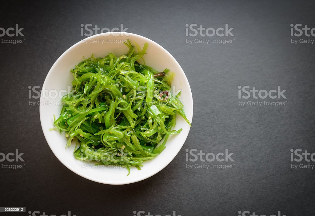 Wakame salad. stock photo