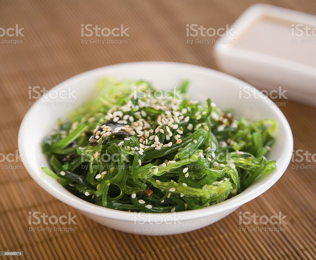 Wakame Seaweed Salad royalty-free stock photo