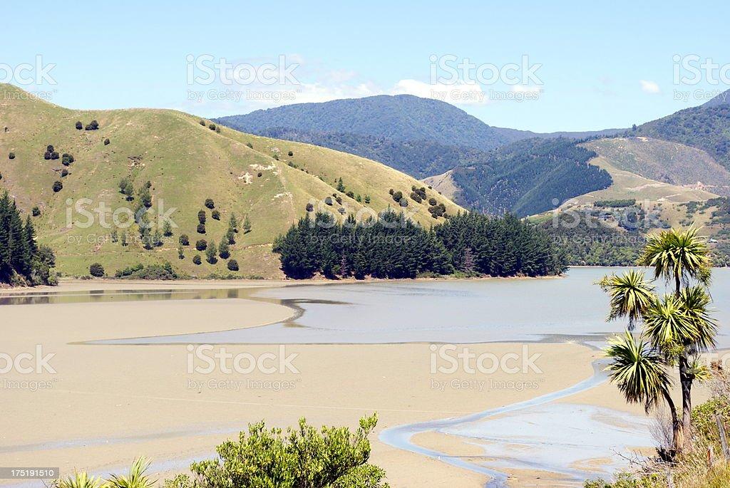 'Wakapuaka Estuary Seascape, Cable Bay, Nelson, New Zealand' royalty-free stock photo