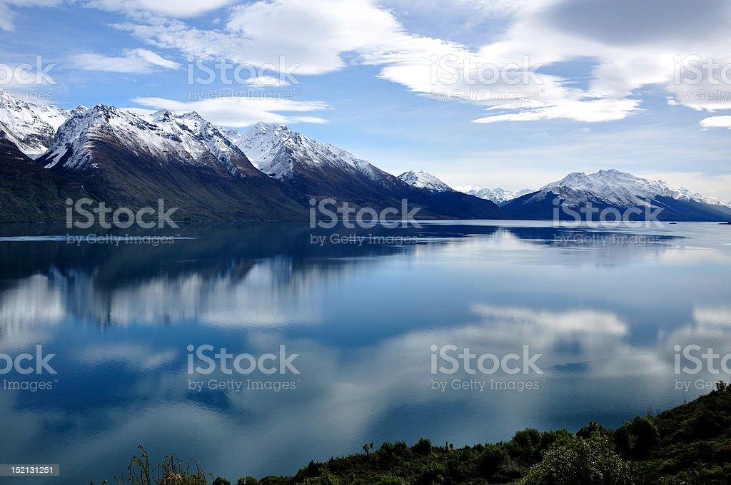 Wakatipu view stock photo
