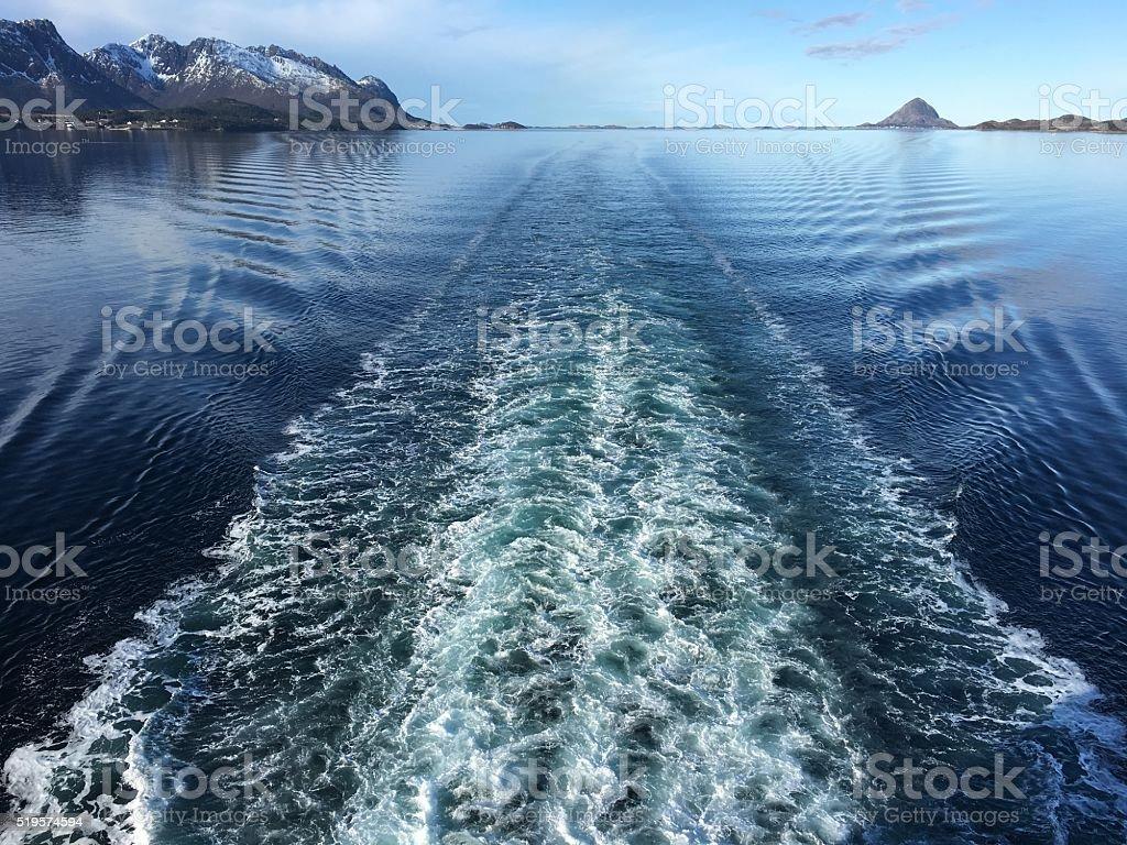 Réveillez-vous après croisière de Nordland, de la Norvège. photo libre de droits