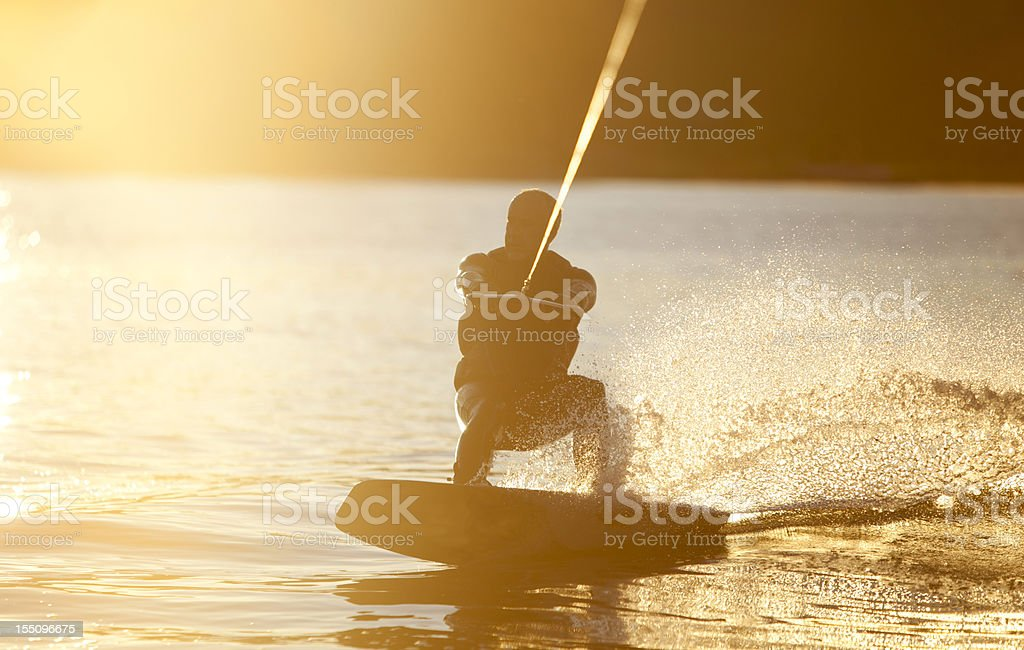 Wake Boarder stock photo