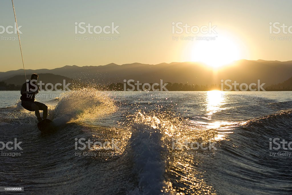 Wake Boarder royalty-free stock photo