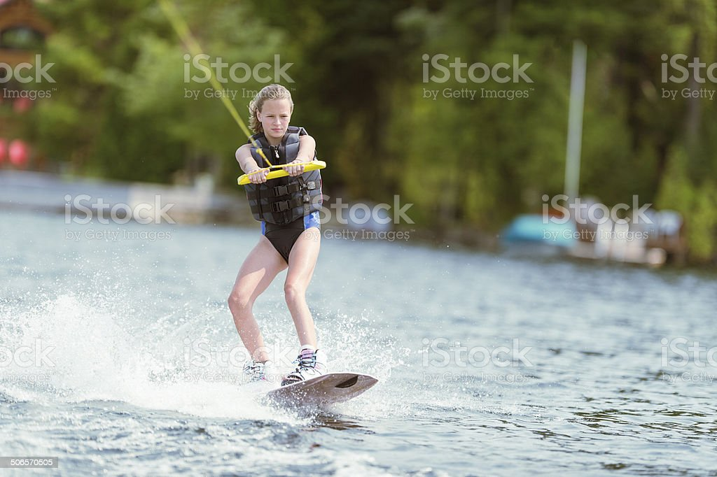 Wake Boarding stock photo