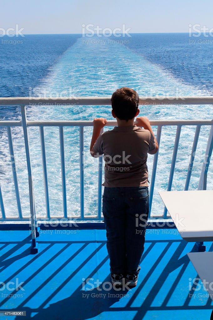 Wake Boat royalty-free stock photo