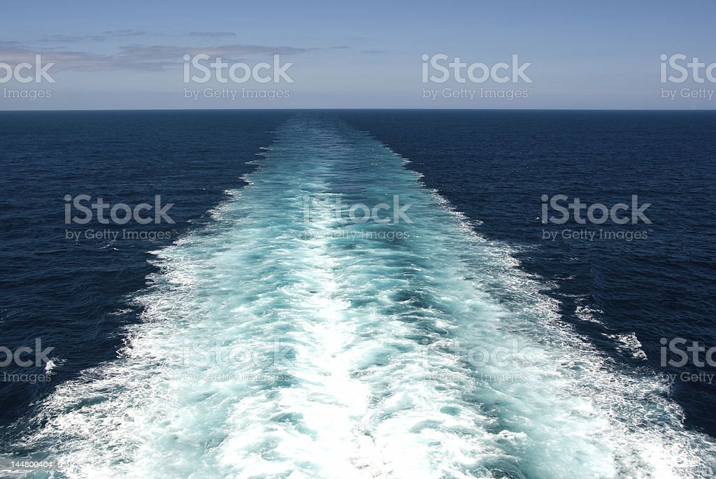 Wake from Boat royalty-free stock photo