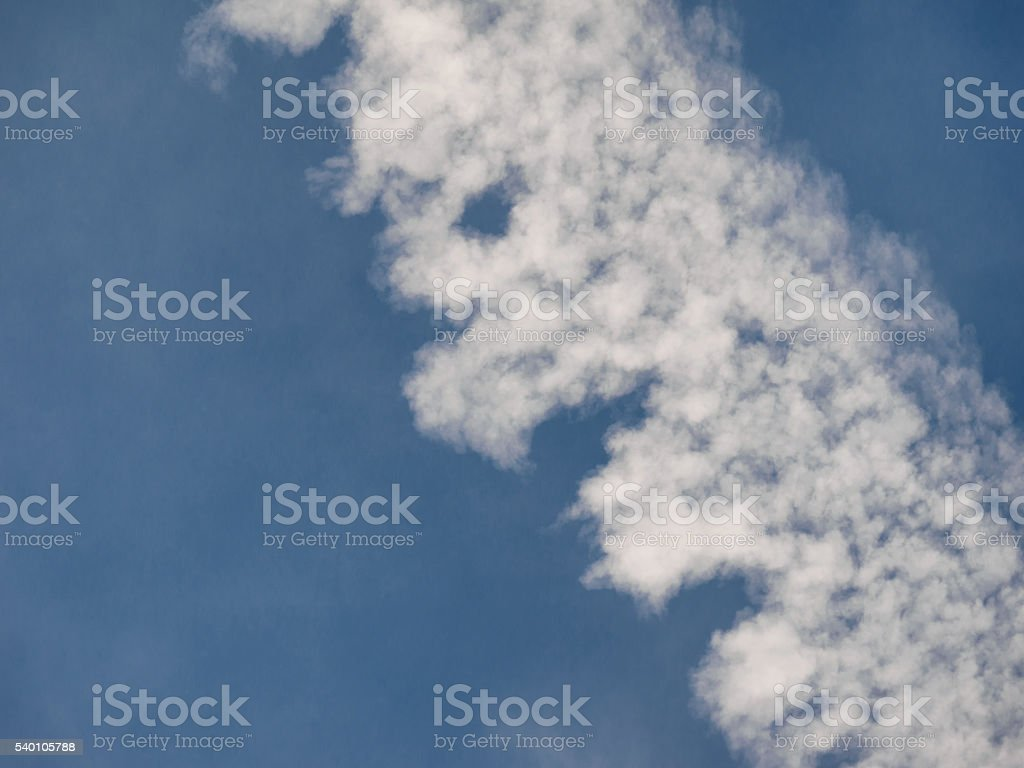 Wake of aircraft stock photo