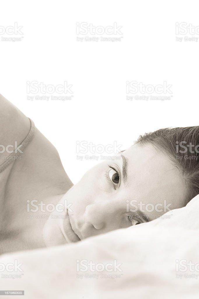 Wake up beauty stock photo