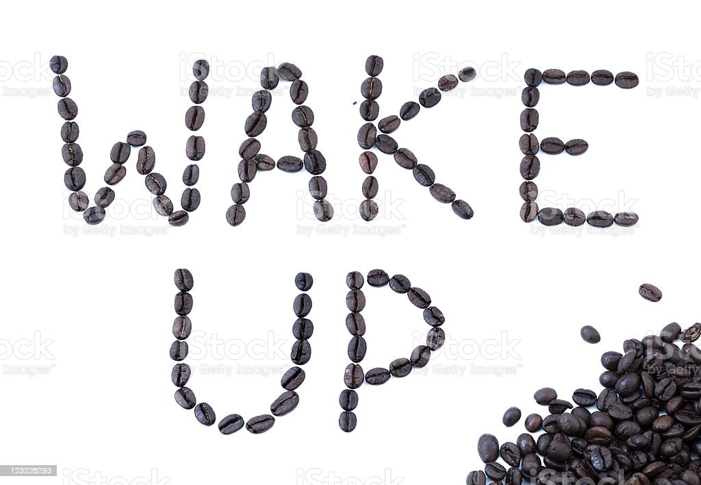 Wake Up - Coffee Beans stock photo