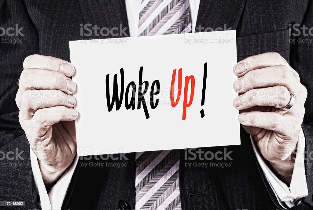 Wake Up Concept stock photo
