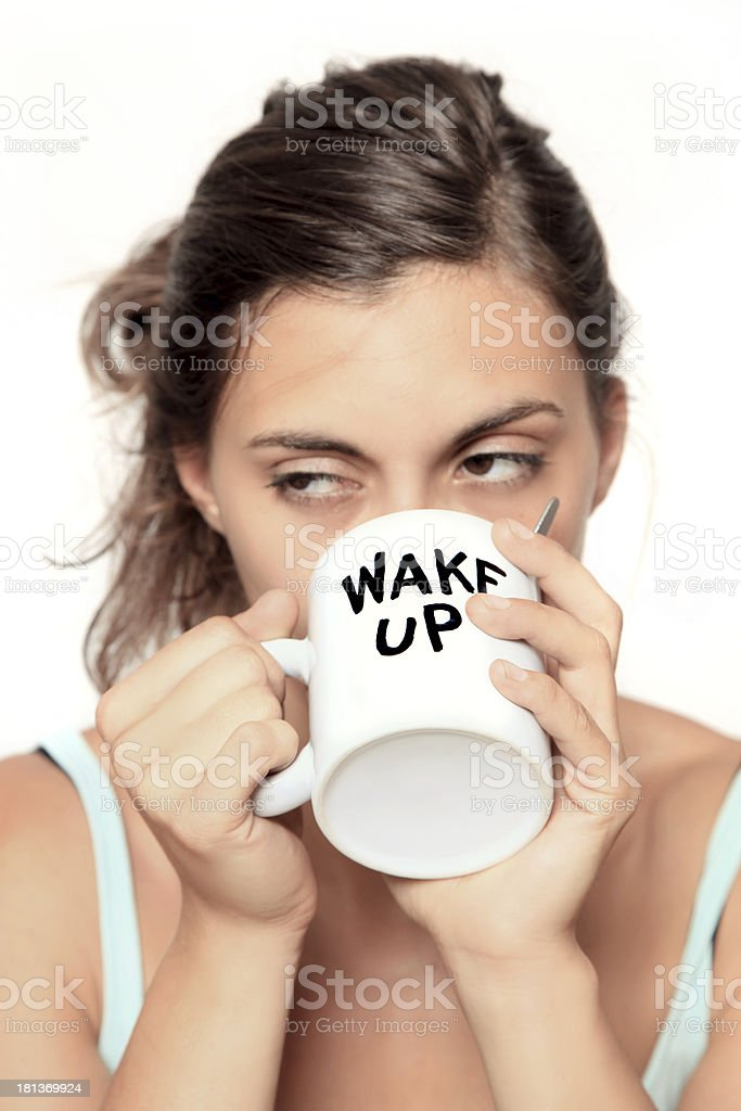 wake up cup royalty-free stock photo