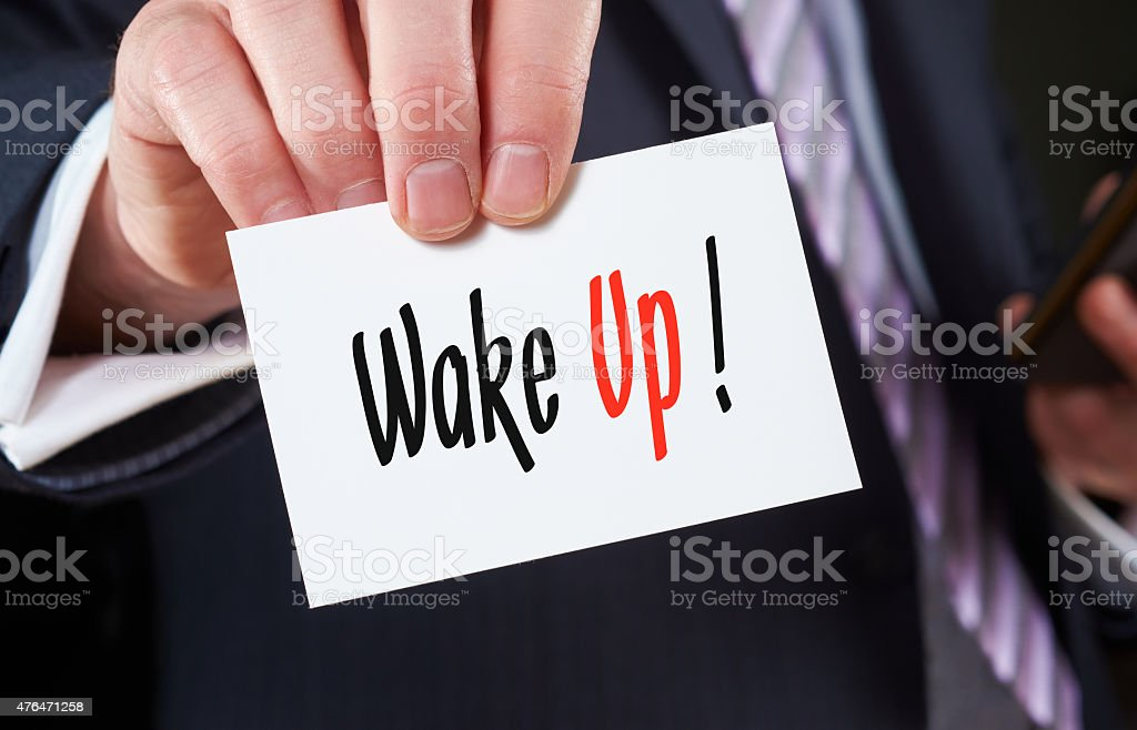 Wake Up, Focus concept stock photo