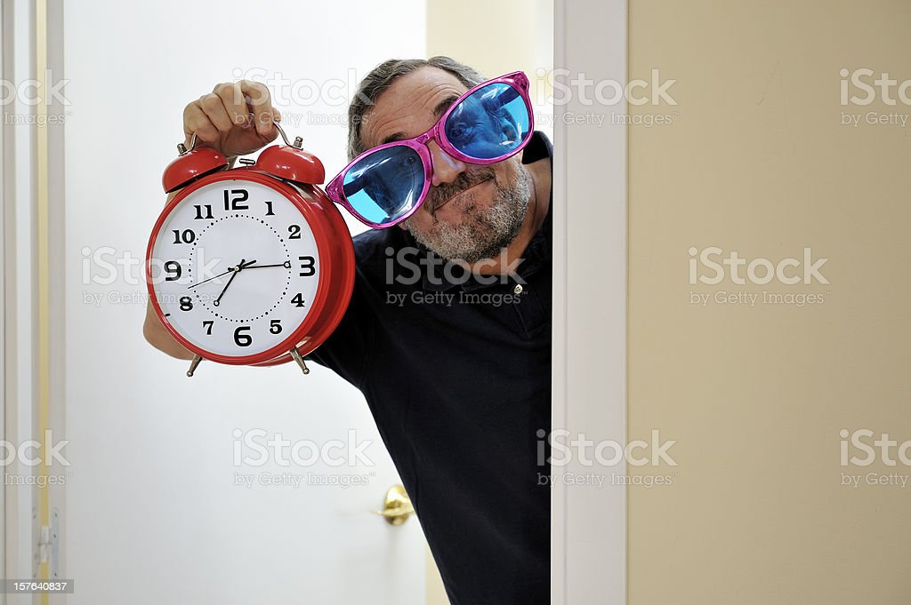 Wake up time stock photo