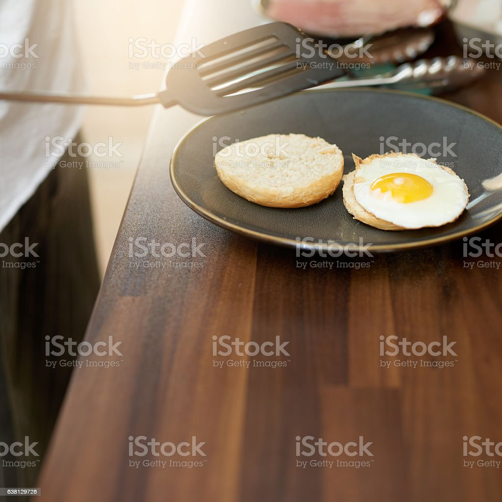 Wake up to a protein-packed breakfast stock photo