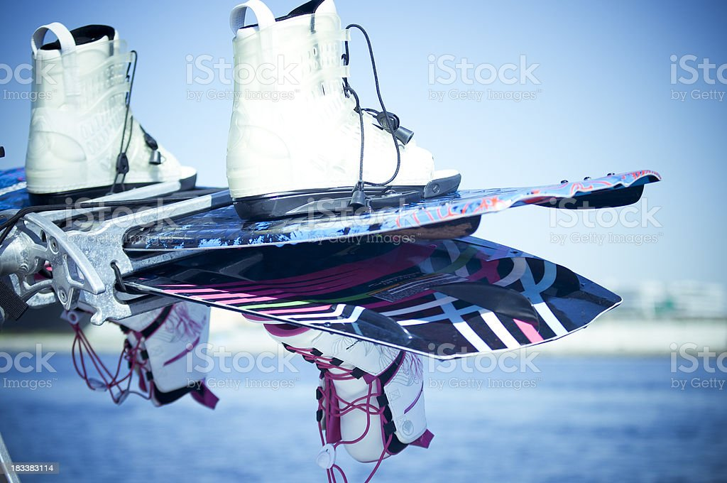 Wakeboard and bindings royalty-free stock photo