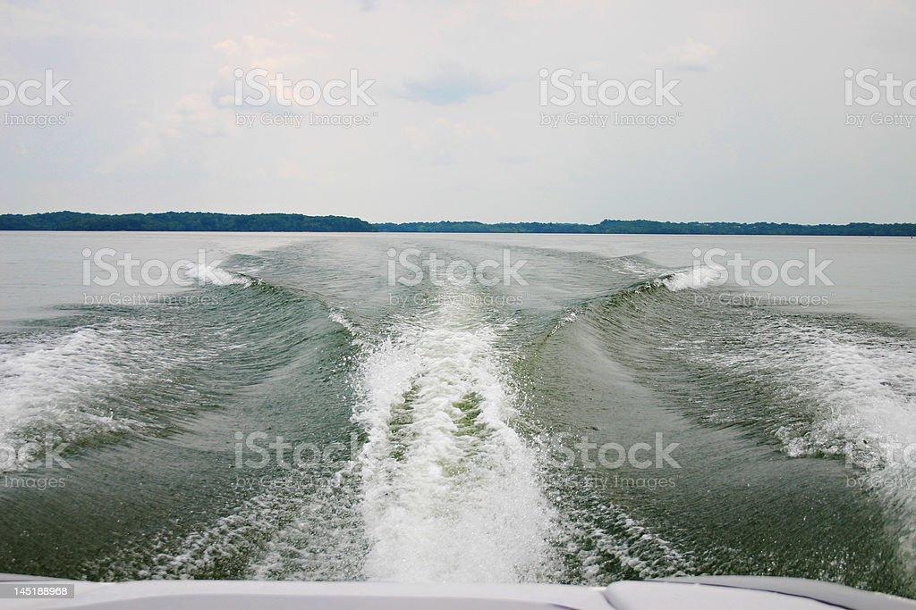 Wakeboard boat wake royalty-free stock photo
