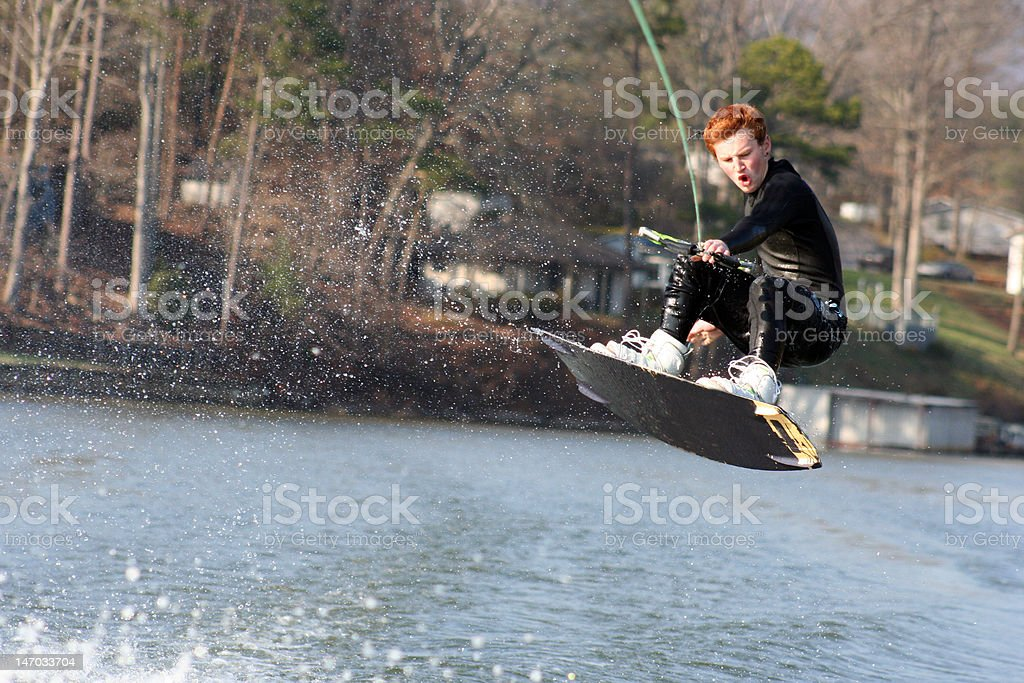 Wakeboard Jump royalty-free stock photo