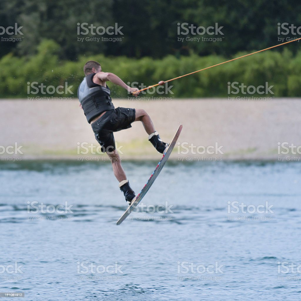 Wakeboard stunt royalty-free stock photo
