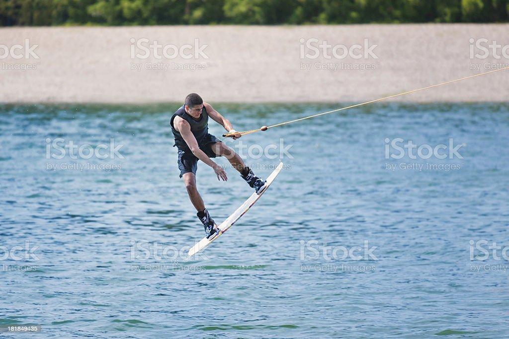 Wakeboard stunt royalty-free stock photo