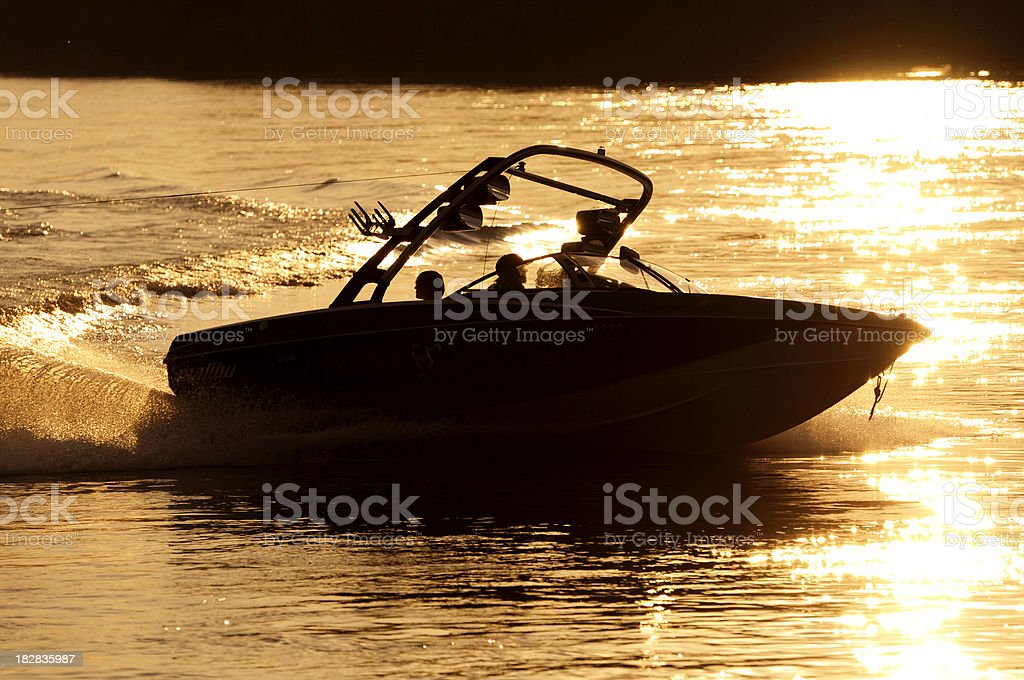wakeboardboat stock photo