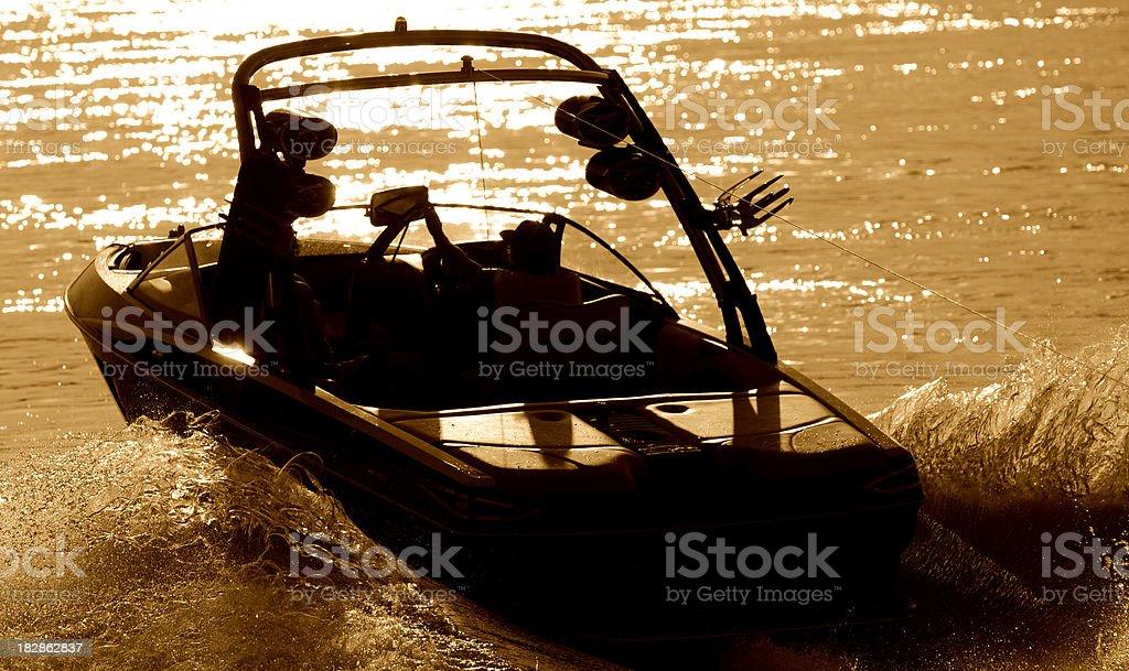 wakeboardboat royalty-free stock photo