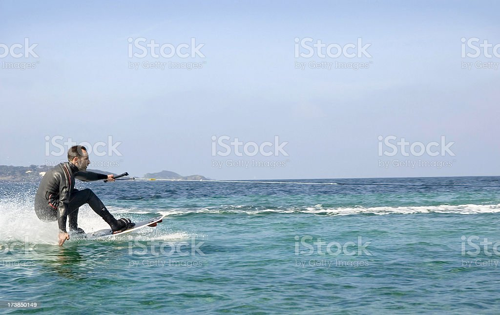 Wakeboarder at the Cote D'Azur stock photo