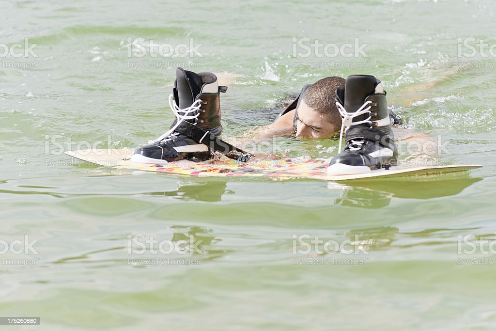 Wakeboarder in water royalty-free stock photo