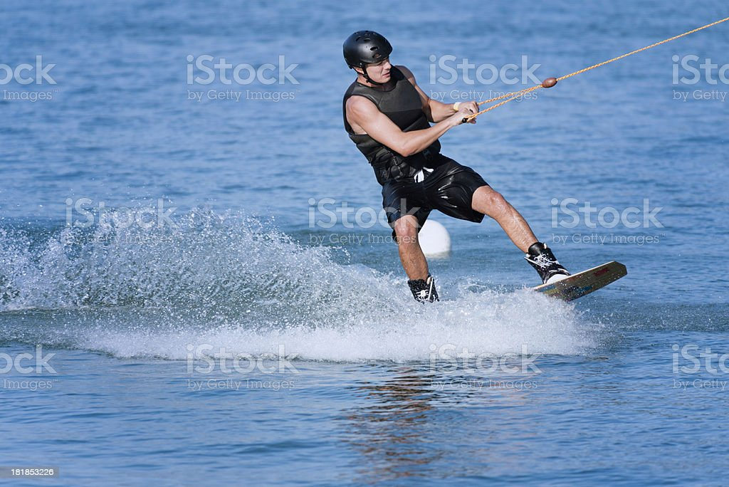 Wakeboarder royalty-free stock photo